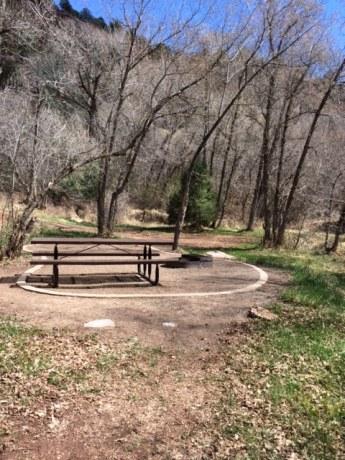 campsite at Rifle Falls