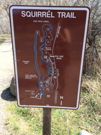 Rifle Falls trail sign
