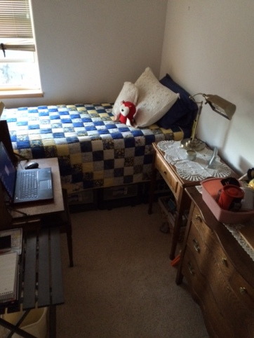 Van set up in bedroom Aug. 2016