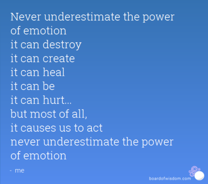 power of emotion blue