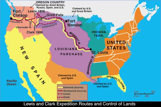 Lewis and Clark journey