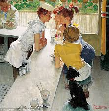 norman rockwell diner