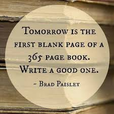 tomorrow is the blank page